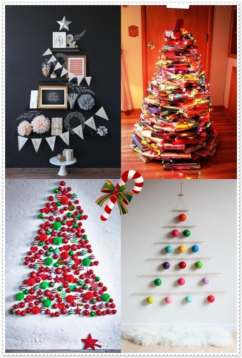 Ideias para fazer uma arvore de Natal original